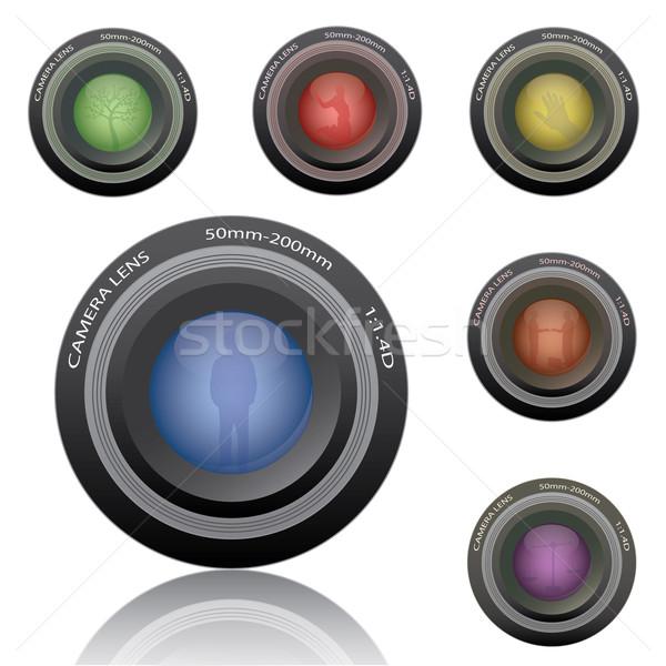 Obraz różny kolorowy kamery odizolowany Zdjęcia stock © nmarques74