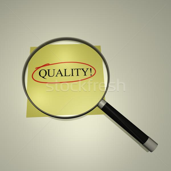 Skupić jakości lupą słowo szkła Zdjęcia stock © nmarques74