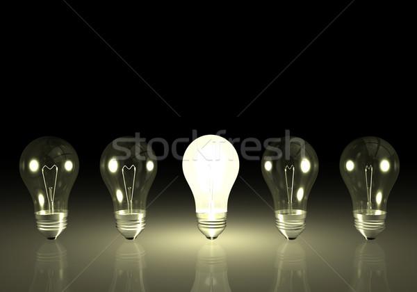 żarówki jeden jasne żarówka świetle lampy Zdjęcia stock © nmarques74