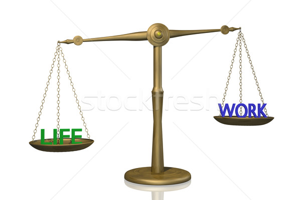 życia pracy równowagi obraz skali Zdjęcia stock © nmarques74