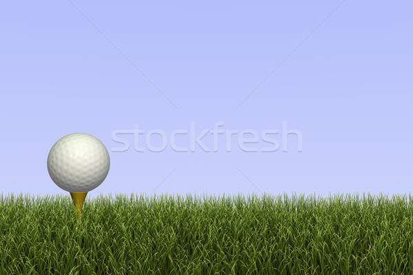 Golf Ball on Tee Stock photo © nmarques74