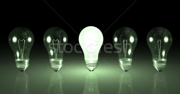 żarówki obraz jeden żarówka inny świetle Zdjęcia stock © nmarques74