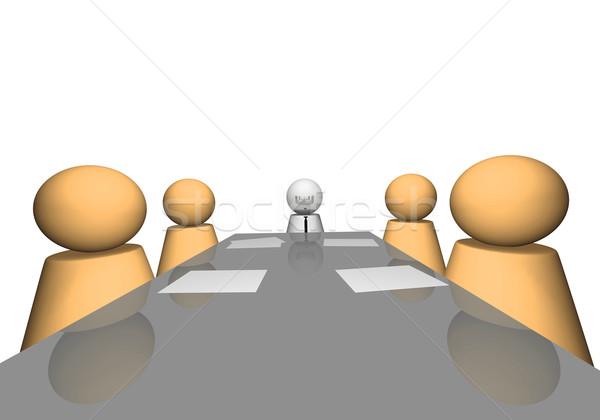 3D firmy spotkanie scena biuro biznesmen Zdjęcia stock © nmarques74