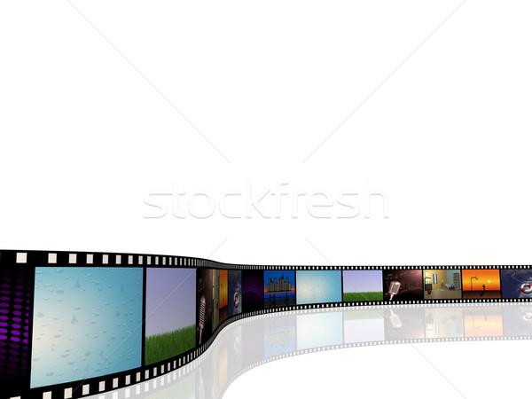 Rolek obraz kina zdjęcia biały Zdjęcia stock © nmarques74