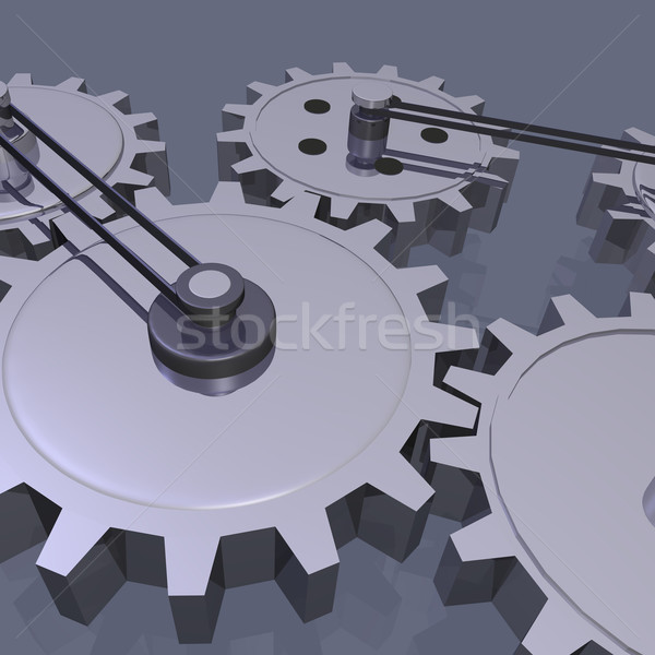 3D Gears Stock photo © nmarques74