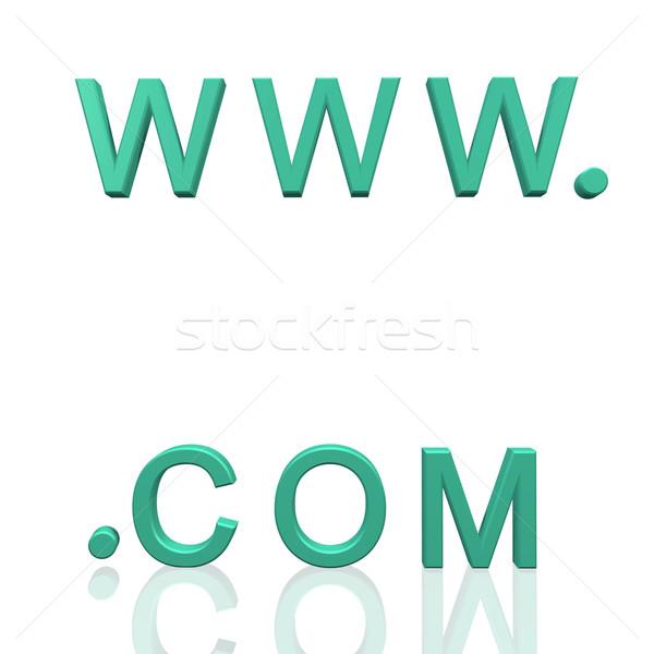 Www 3d tekst odizolowany biały komputera świat Zdjęcia stock © nmarques74