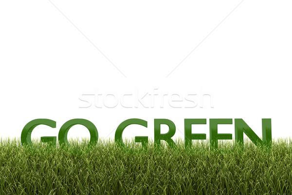 Zielone biały recyklingu środowiska tekst słowa Zdjęcia stock © nmarques74