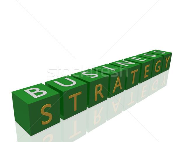 Strategia biznesowa 3D tle zielone korporacyjnych Zdjęcia stock © nmarques74