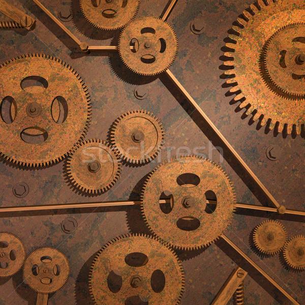 Zardzewiałe narzędzi różny metal technologii tle Zdjęcia stock © nmarques74