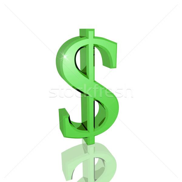 3D znak dolara odizolowany biały działalności metal Zdjęcia stock © nmarques74