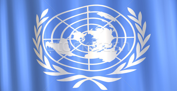 Banderą obraz 3D ziemi kraju oddziału Zdjęcia stock © nmarques74