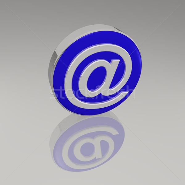 3D szimbólum kék tükröződő üzlet számítógép Stock fotó © nmarques74