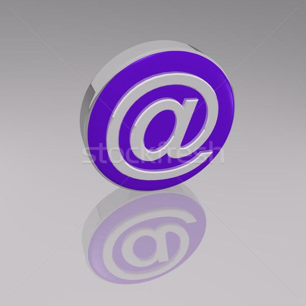 3D symbol działalności komputera Internetu mail Zdjęcia stock © nmarques74