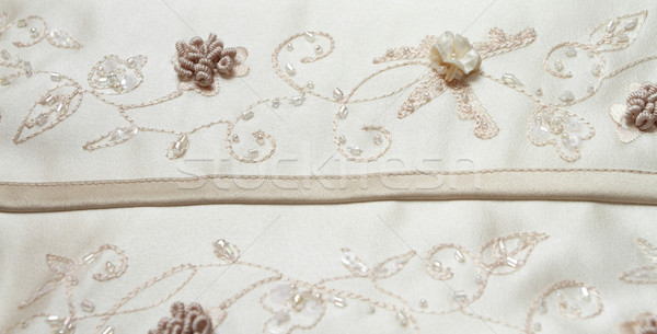 Detail of wedding dress Stock photo © Nneirda