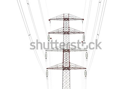 Detail of electricity pylon against Stock photo © Nneirda