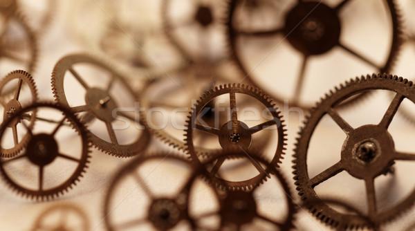 Klein onderdelen klok detail restauratie achtergrond Stockfoto © Nneirda