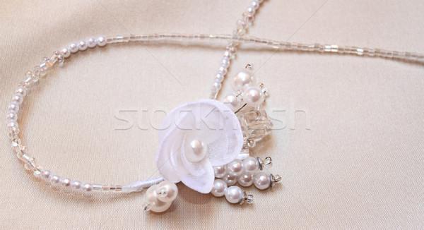 Narzeczonych biżuteria kobieta ślub wzrosła tle Zdjęcia stock © Nneirda