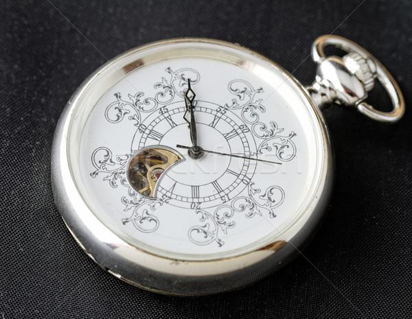 öreg óra gép sötét kezek óra Stock fotó © Nneirda