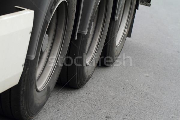 Foto stock: Caminhões · rodas · foto · luz · tecnologia