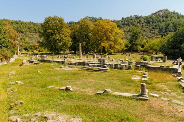 Vecchio rovine foto Grecia cielo costruzione Foto d'archivio © Nneirda