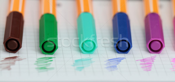 Color pens Stock photo © Nneirda