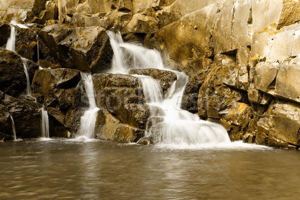 Beautiful waterfall Stock photo © Nneirda