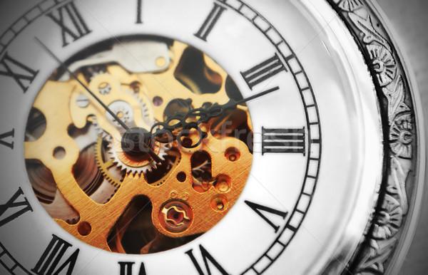 öreg óra gép arc háttér fekete Stock fotó © Nneirda