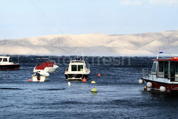 Pequeno azul mar praia água natureza Foto stock © Nneirda