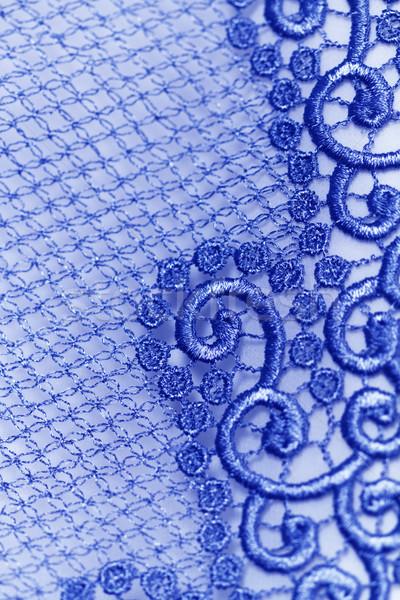 Decorative blue lace Stock photo © Nneirda