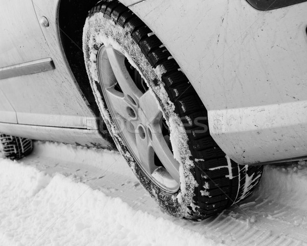 冬 タイヤ 車 タイヤ 道路 ストックフォト © Nneirda