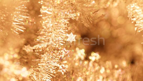 Tinsel - Christmas decoration. Stock photo © Nneirda