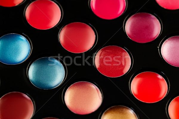 Lip gloss palette primo piano shot soft focus Foto d'archivio © Nneirda