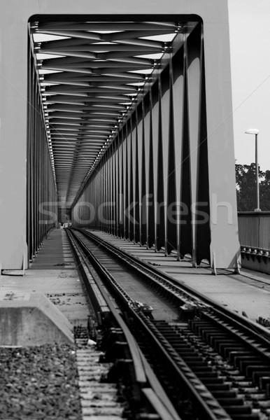Ferrocarril puente metal perspectiva vista resumen Foto stock © Nneirda