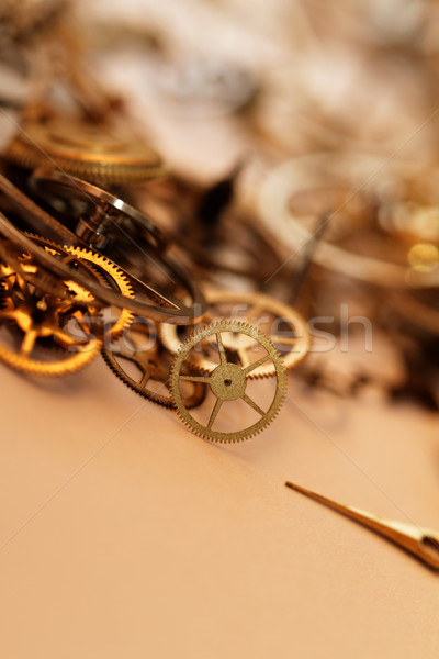 Detail of clock parts for restoration Stock photo © Nneirda