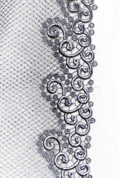 Foto stock: Decorativo · prata · renda · moda · arte · tecido