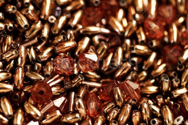 Brown beads Stock photo © Nneirda