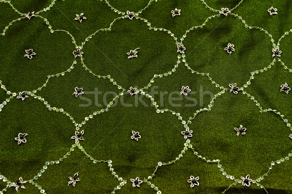 Vert satin textiles texture rideau Photo stock © Nneirda