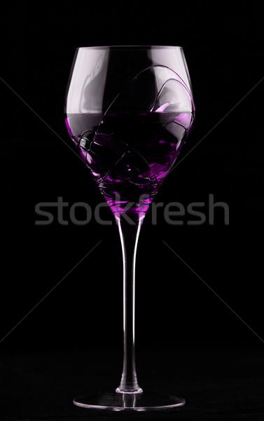 Borospohár magenta sötét méreg üveg ital Stock fotó © Nneirda
