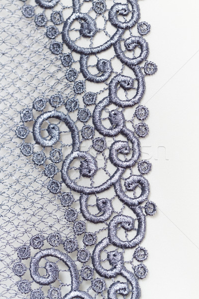 Decorative silver lace Stock photo © Nneirda