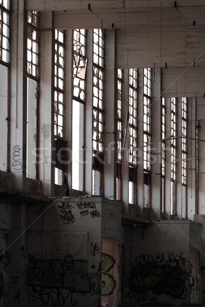 Vernietiging gebouw huis bouw muur Stockfoto © Nneirda
