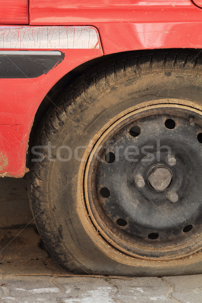 Flat tire.  Stock photo © Nneirda