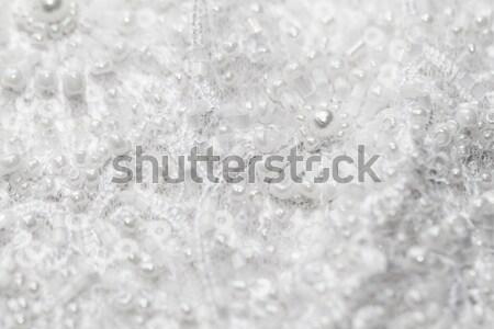 Szczegół ślub koronki luksusowe pereł biały Zdjęcia stock © Nneirda