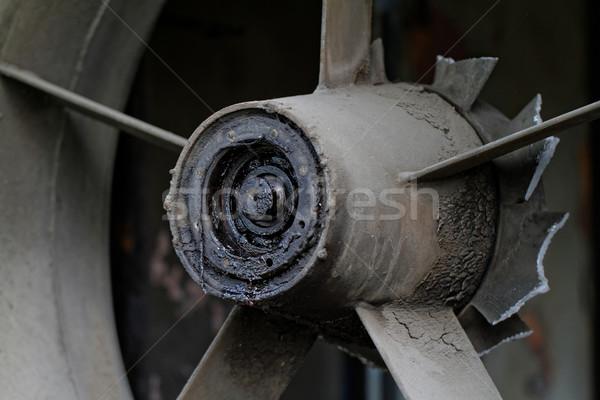 Rozsdás propeller öreg ipari textúra épület Stock fotó © Nneirda