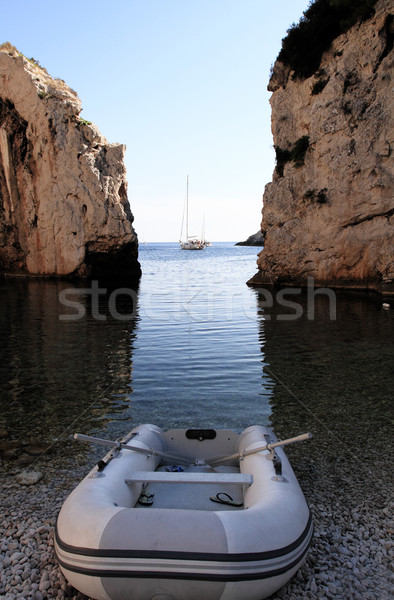 White Boat Stock photo © Nneirda