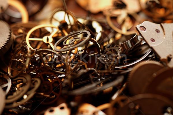 Stock fotó: Kicsi · alkatrészek · óra · részlet · helyreállítás · munka
