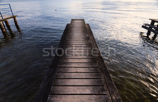 Lake pier Stock photo © Nneirda
