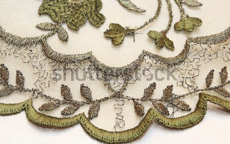 Verde textiles amor luz blanco vestido Foto stock © Nneirda