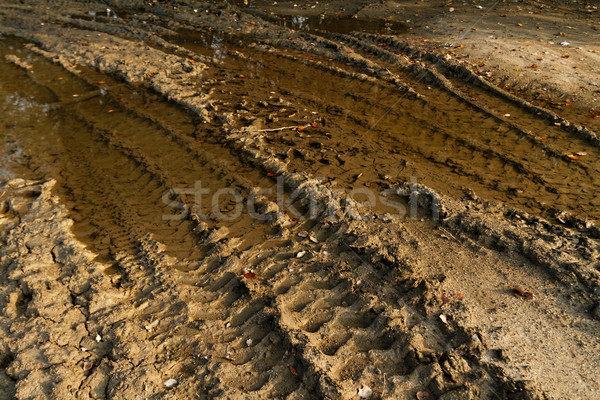 Dirty broken rural road  Stock photo © Nneirda