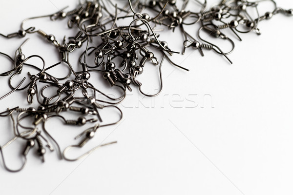 Earring hooks, with ball and coil Stock photo © Nneirda