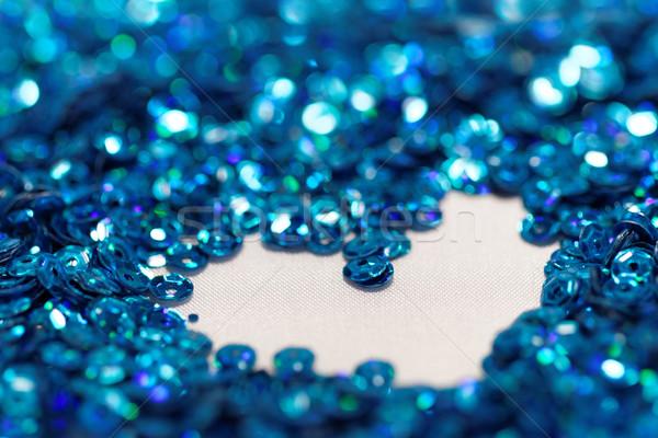 синий цехин фото текстуры любви Сток-фото © Nneirda